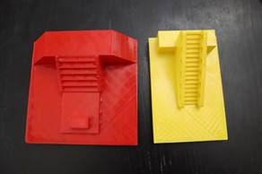 finish printing parts