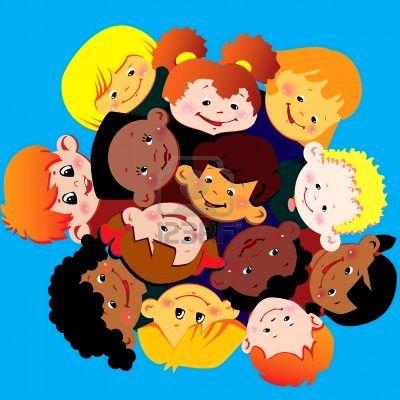 Gambar Animasi Anak Bergandengan Tangan