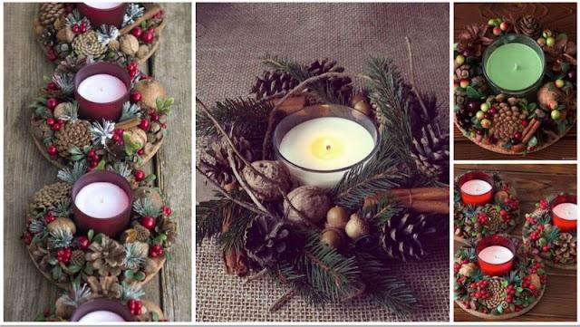 DIY Εύκολα Χριστουγεννιάτικα Κηροπήγια