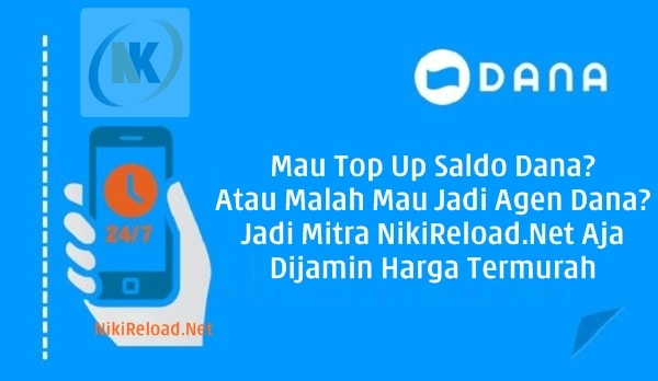 NikiReload.net PT Aslamindo Eltama Raya Jember Agen Top Up Saldo Dana Termudah dan Praktis