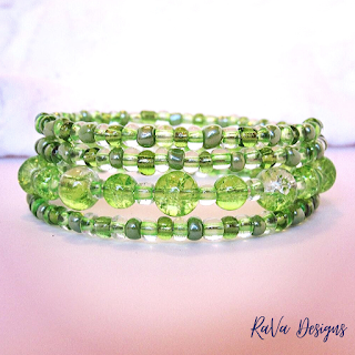st patrick's day jewelry ideas bracelets green seed beads