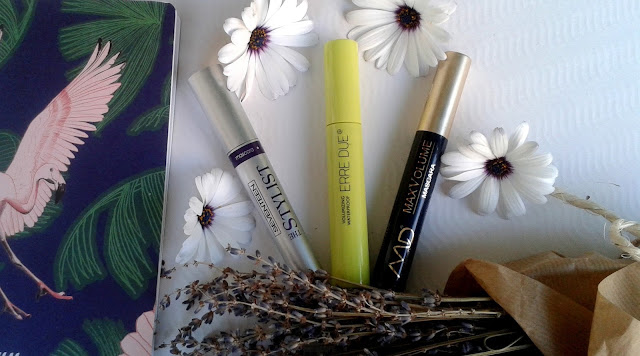 seventeen the stylist mascara, md max volume mascara, erre due volumizing waterproof mascara