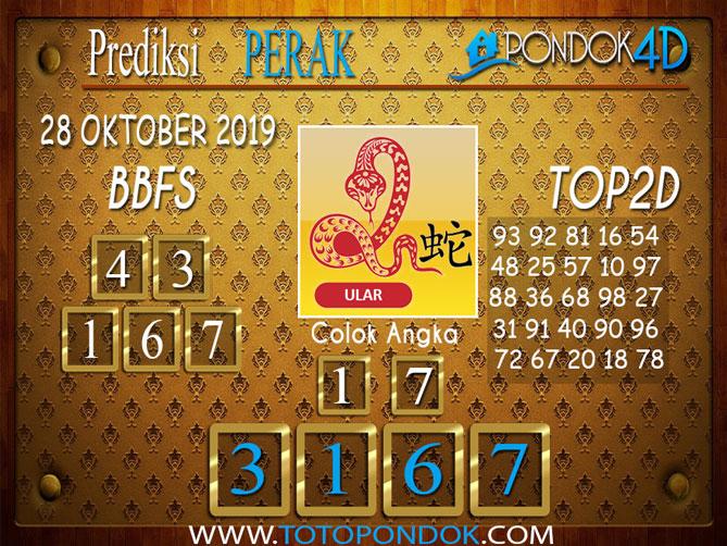 Prediksi Togel PERAK PONDOK4D 28 OKTOBER 2019