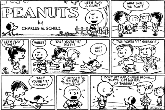 First Sunday strip of Peanuts