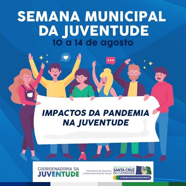 Semana da Juventude on-line contará com palestras, música e debates abordando os impactos da pandemia na juventude