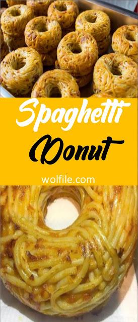 Spaghetti Donut Recipe  #Spaghetti #Noodles #Donut