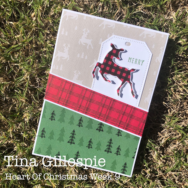 scissorspapercard, Stampin' Up!, Heart Of Christmas, Christmas To Remember, Peaceful Prints DSP, Sale-A-Bration, Sheetload Of Cards