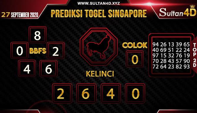 PREDIKSI TOGEL SINGAPORE SULTAN4D 27 SEPTEMBER 2020