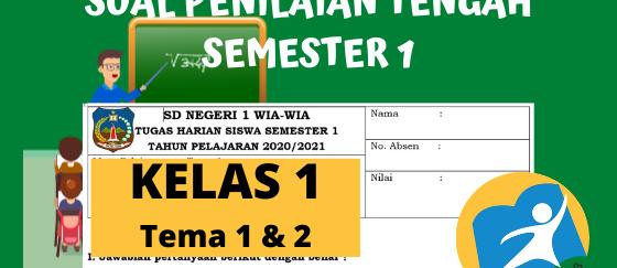 Kisi-Kisi Soal PTS Kelas 1 Semester 1 K13 Revisi Terbaru