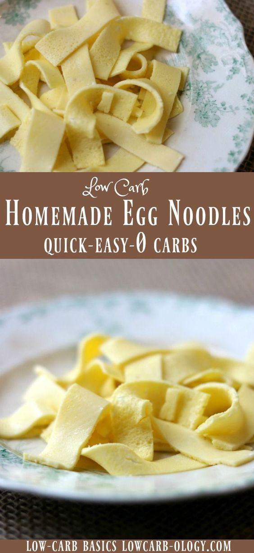 Low Carb Egg Noodles
