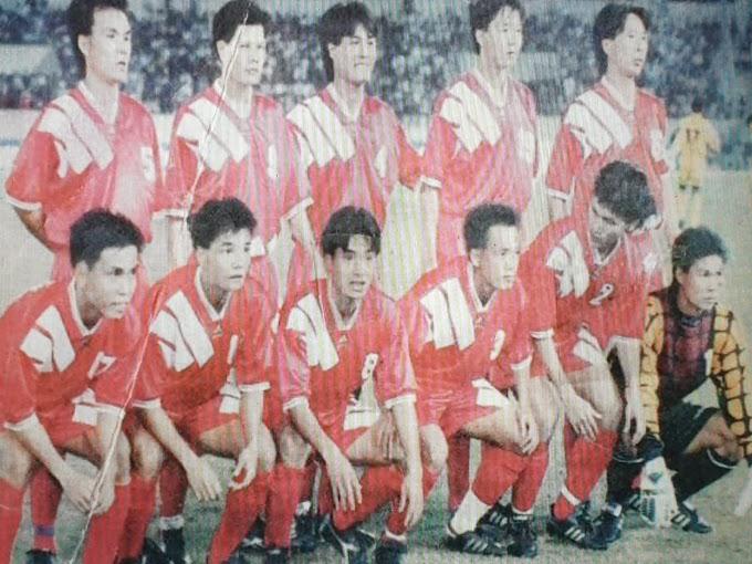 90'lı yıllarda Vietnam futbolu Takımı.