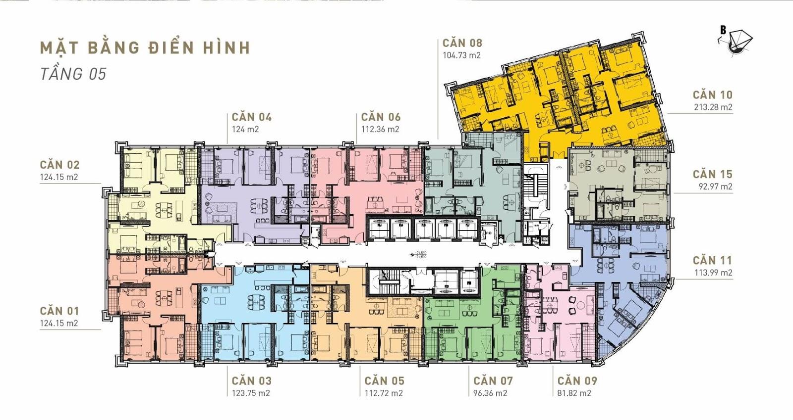 Mặt bằng điển hình King Palace - Tầng 05
