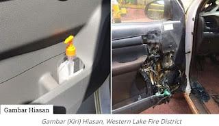 Jangan tinggalkan hand sanitizer dalam kereta, boleh akibatkan kebakaran