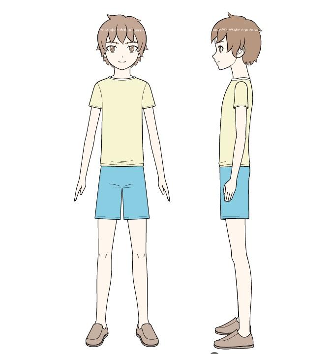 Mewarnai anime anak laki-laki