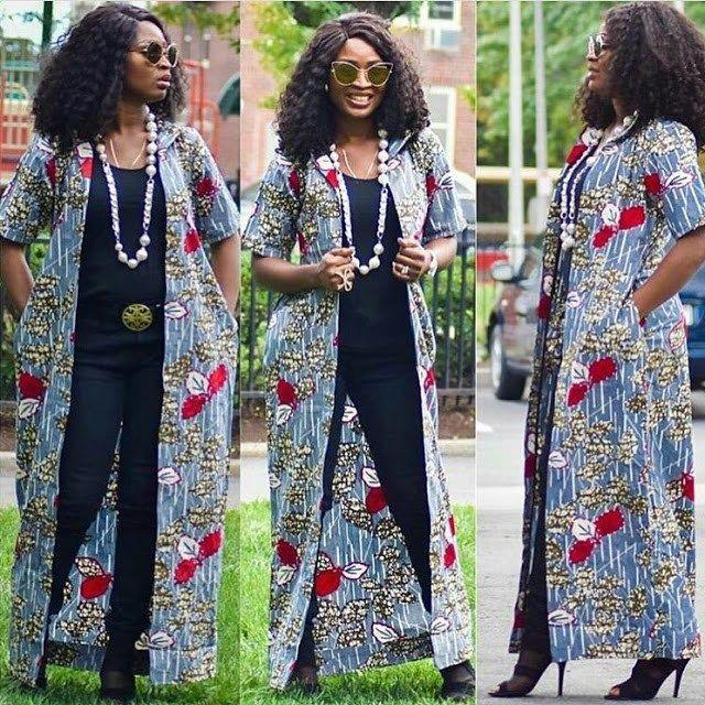 Ankara kimono tops fashion style 2021