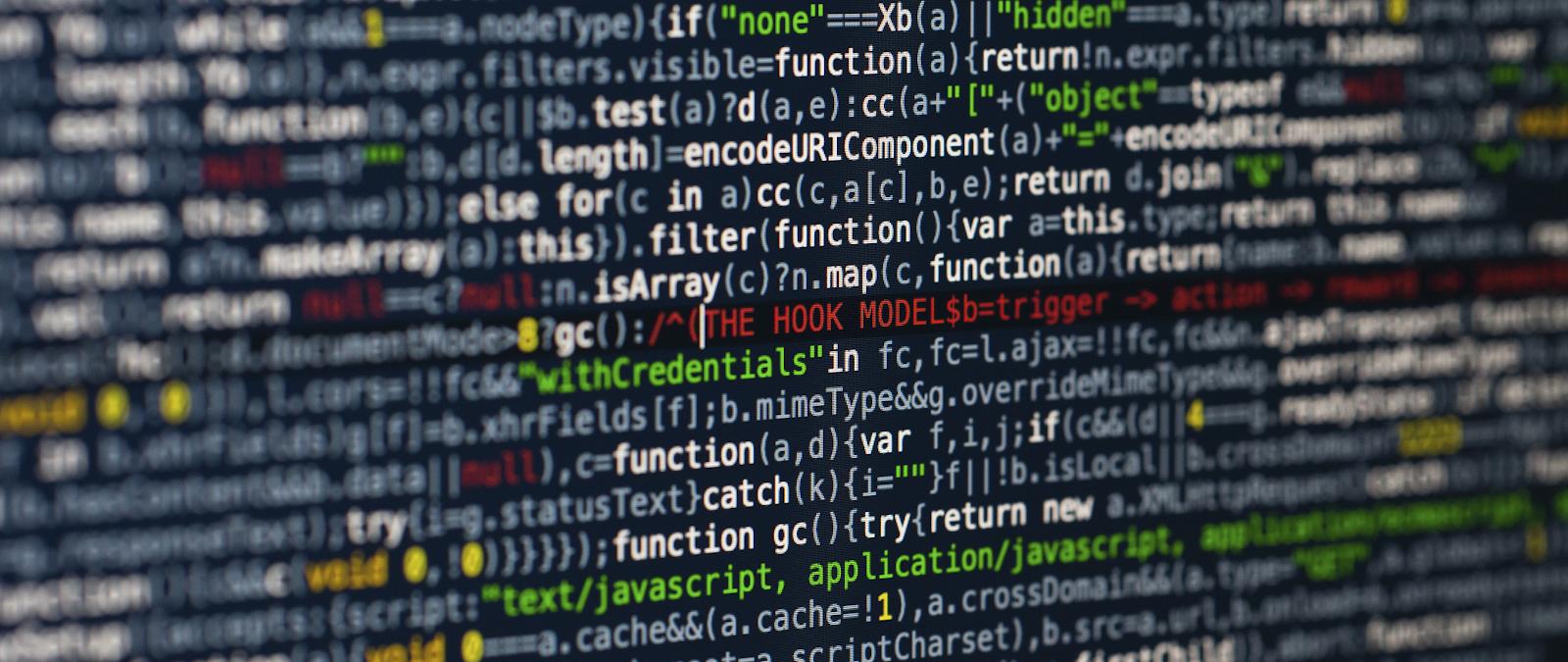 Ultra wide desktop code wallpaper