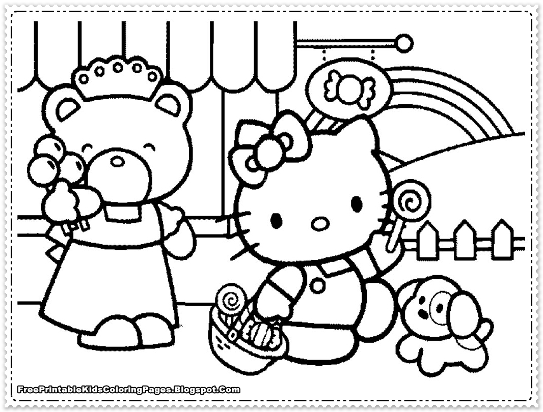hello kitty coloring pages for girls - free printable kids ... - Childrens Coloring Pages Girls