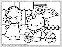 hello kitty coloring pages for free