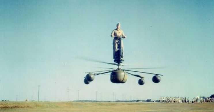 HZ-1 Aerocycle tek kişilik bir uçan araçtı ama onun da kaderi diğerleri gibi oldu.