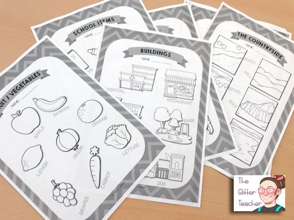 Worksheets de vocabulario específico para primero y segundo de educación primaria en el área de inglés como lengua extranjera.