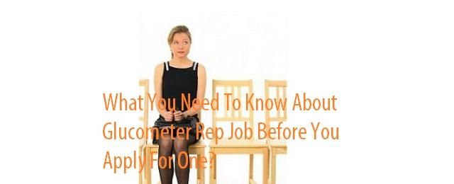 Glucometer sales rep job application