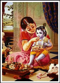 bal krishna with yashoda images