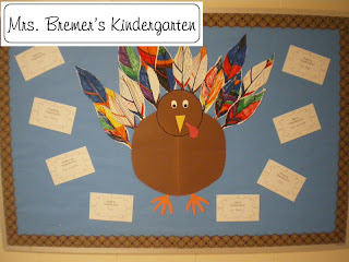 collaborative Thanksgiving bulletin board