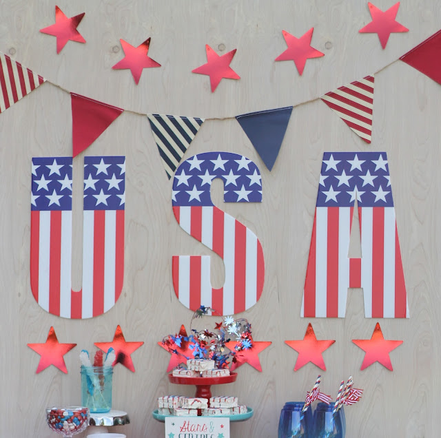 Stars and Stripes 4th of July Party AK Party Studio Tacoma Event Planner