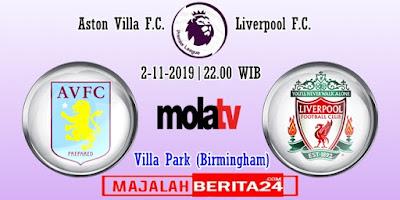 Prediksi Aston Villa vs Liverpool — 2 November 2019