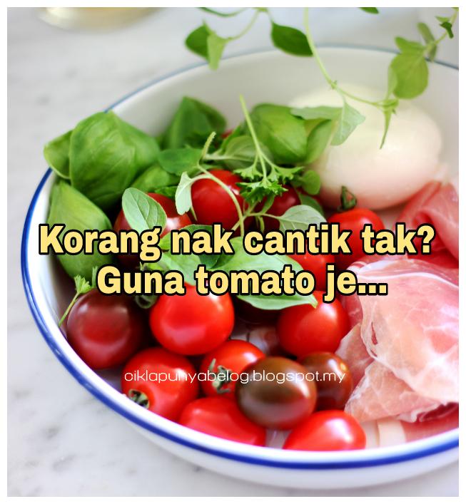 Korang nak cantik tak? Guna tomato je...