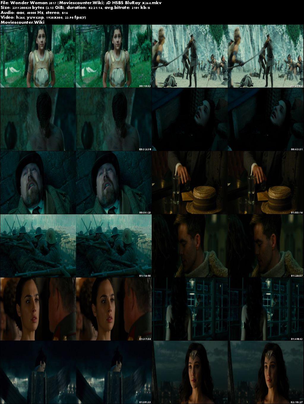 Screen Shots Wonder Woman 2017 English HD 1080p 3D