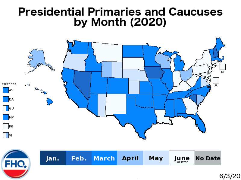 Frontloading Hq The 2020 Presidential Primary Calendar