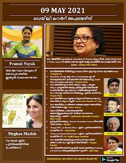 Daily Malayalam Current Affairs 09 May 2021