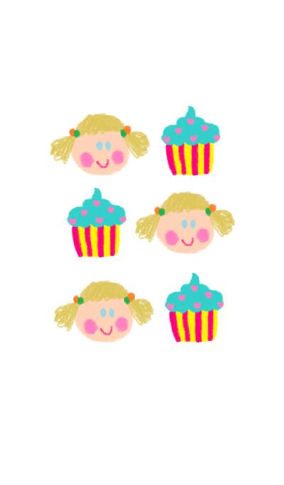 girl x cupcake