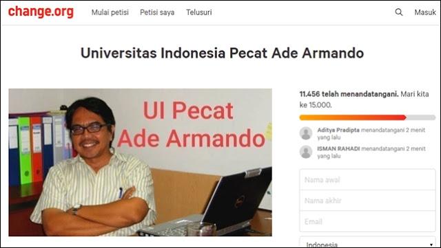 Petisi UI Pecat Ade Armando Tembus 11 Ribu Tanda Tangan
