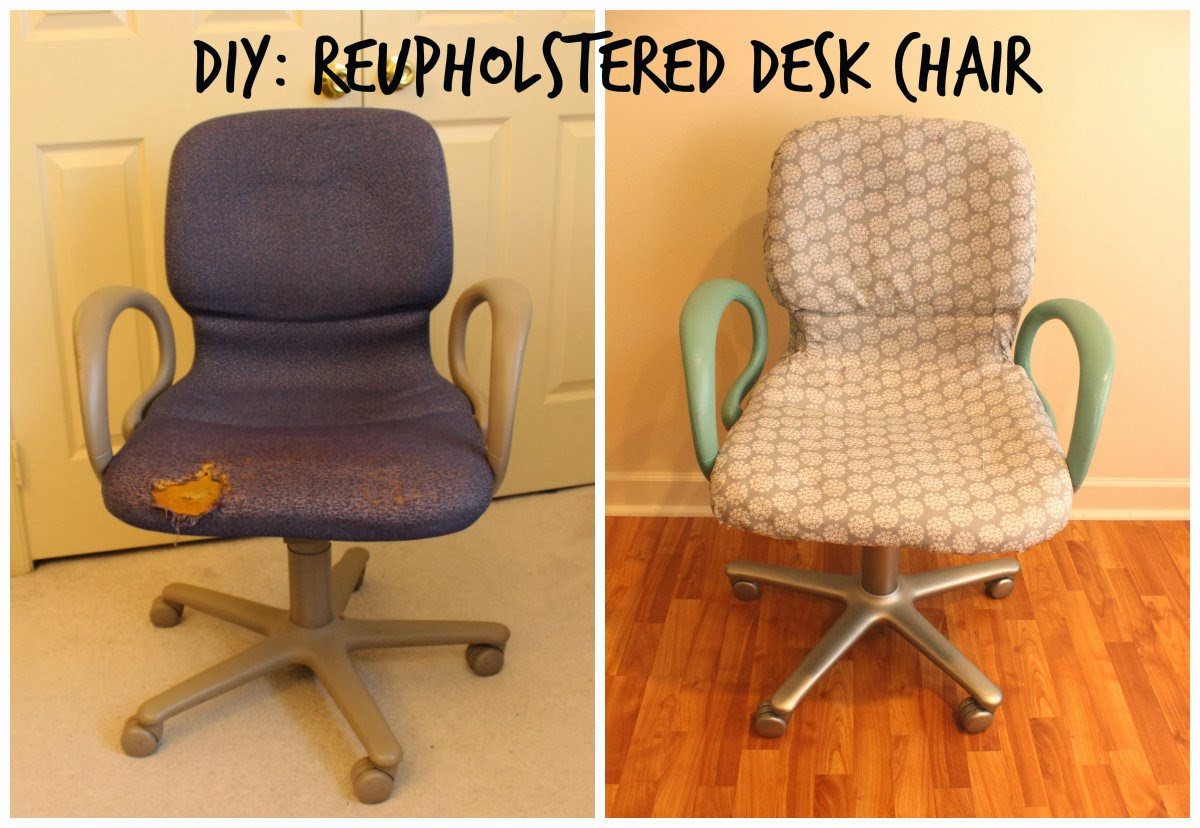 From Woo to You: DIY: Reupholstered Office Chair