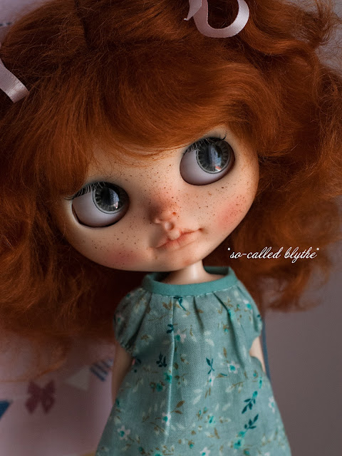 Fiona OOAK custom doll grey eyes