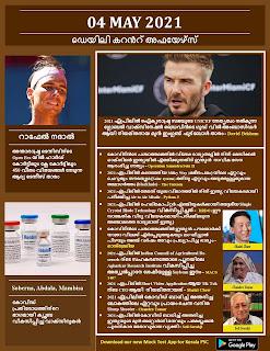 Daily Malayalam Current Affairs 04 May 2021