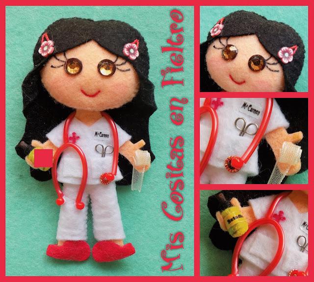 broche de fieltro enfermera, broche de fieltro, broche fieltro, enfermera fieltro, enfermera de fieltro, broche enfermera