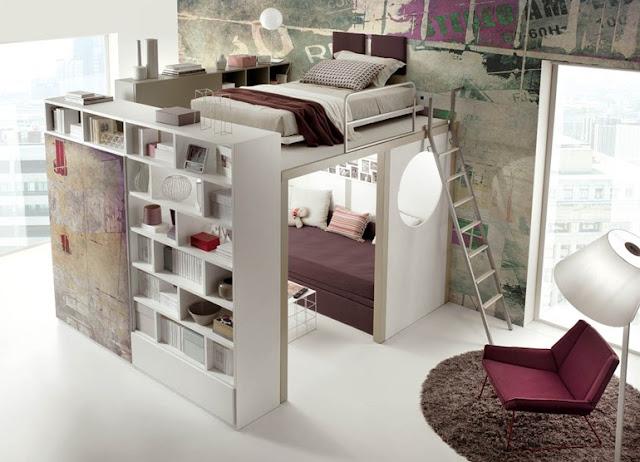 Marcenaria inteligente para quarto pequeno. Space saving bed. Blog Achados de Decoração
