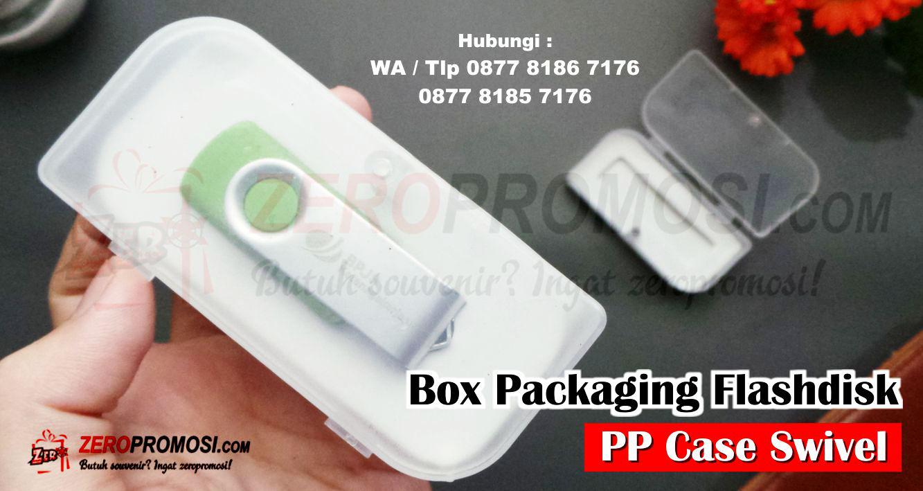 Packaging Flashdisk Custom dengan Logo Perusahan, Jual Box Packaging Souvenir USB Flashdisk Promosi  PP CASE SWIVEL, Box Packaging Plastik Pendek Polos Souvenir USB, Box USB PP Case Swivel