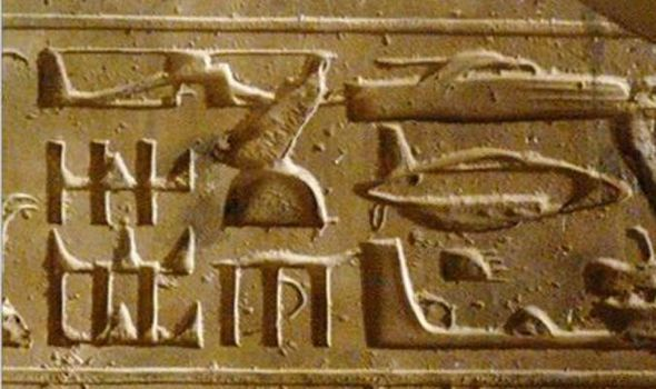 Ancient aliens vehicles carved to stone.