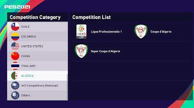 eFootball PES 2021 - Algerian Ligue Professionnelle 1 Patch ( smokepatch21 version 21.3.3 or newer)