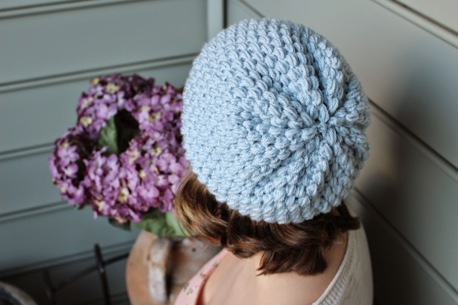 Hey there everybody! So I posted the video tutorial for this puff stitch  slouchy beanie ... cfaf1f9f426