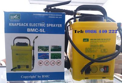 Bình phun động cơ điện BMC 5 lít