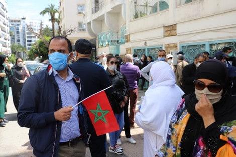Moroccan-immigrants-protest-against-demanding