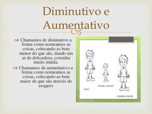 DIMINUTIVO E AUMENTATIVO