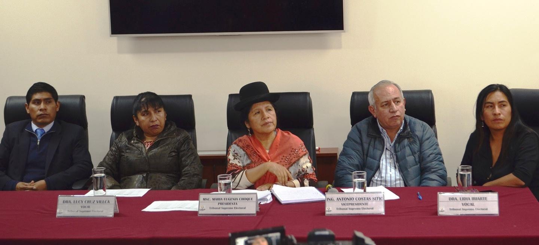 La oposición desconfía de la independencia del Órgano Electoral y sus siete vocales / FUENTE DIRECTA