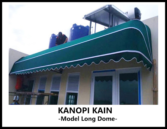 kanopi kain model long dome