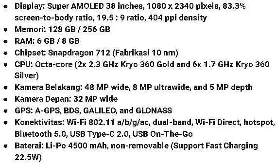 Spesifikasi HP Android Vivo Z5